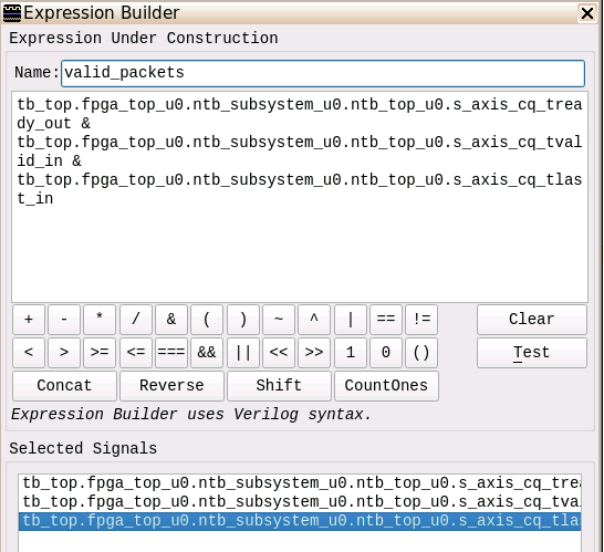 Expression Builder View